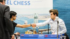 Miniature de Carlsen bat Giri au départage et remporte un nouveau Tata Steel