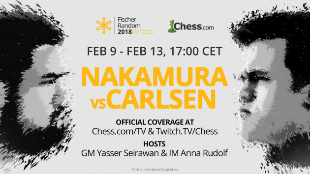 Chess.com To Cover Carlsen-Nakamura Match