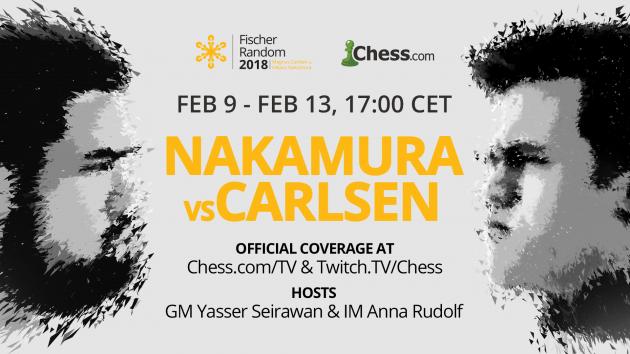 Carlsen y Nakamura jugarán un match de ajedrez 960