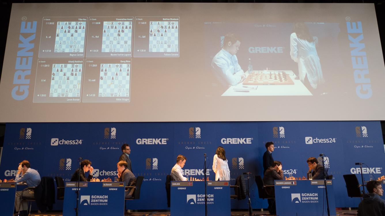 4 Winners In Grenke Chess Classic's Round 2; Vitiugov Still Perfect