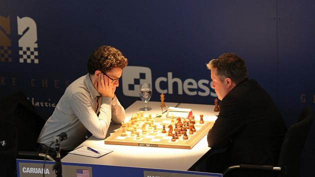 Caruana Wins, Now 3-Way Tie Atop Grenke