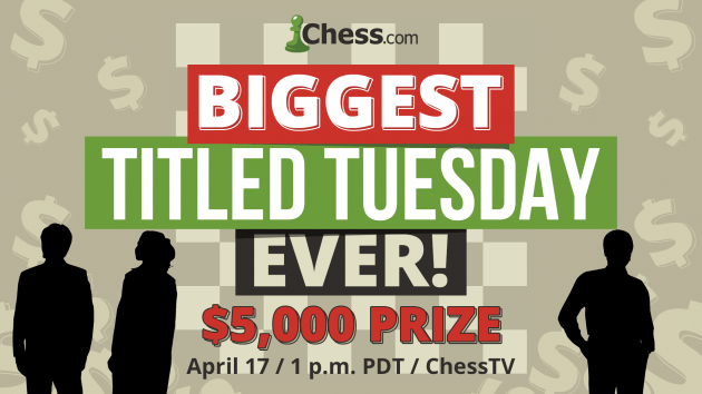 Grigoriants Among 3 Winners Of Largest Titled Tuesday Ever