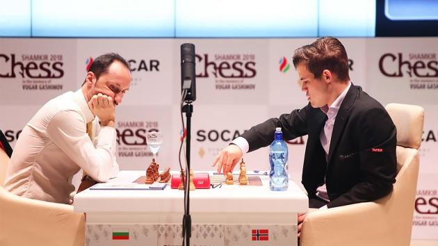 Carlsen Beats Topalov, Leads Shamkir Chess
