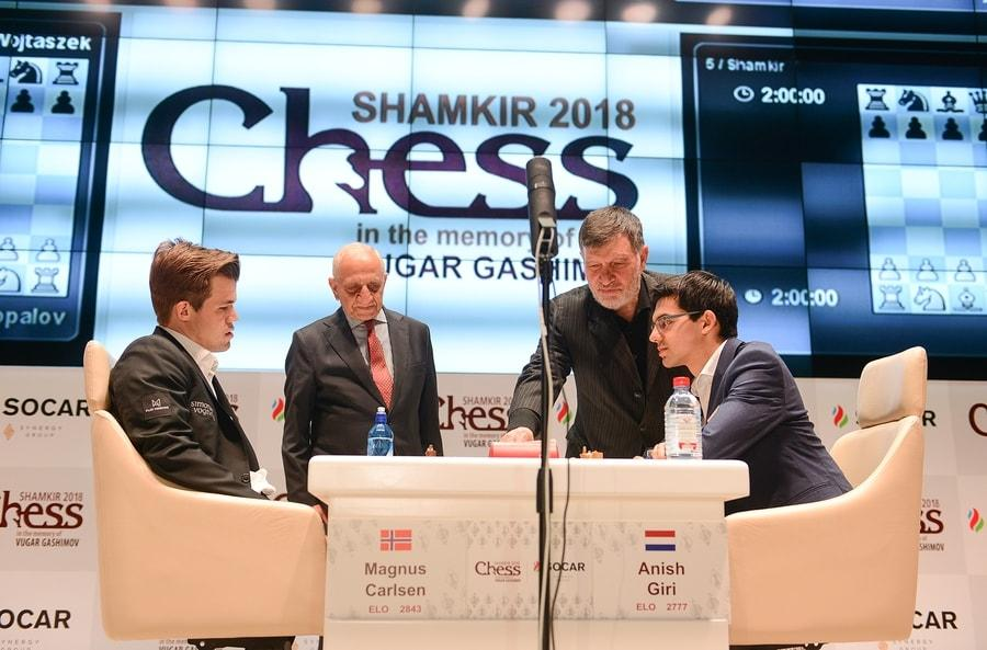 Carlsen, Ding To Play For Shamkir Chess Title