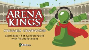 Anunciando o Campeonato dos Apresentadores dos Reis da Arena