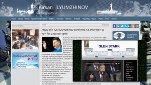 Fake Name On FIDE President Ilyumzhinov's Ticket