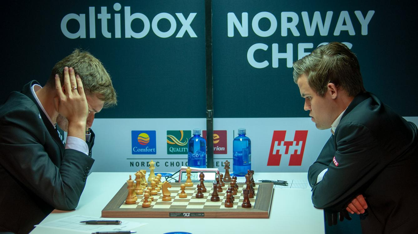 Carlsen Retains Lead After Quick Draws In Norway Chess Round 2