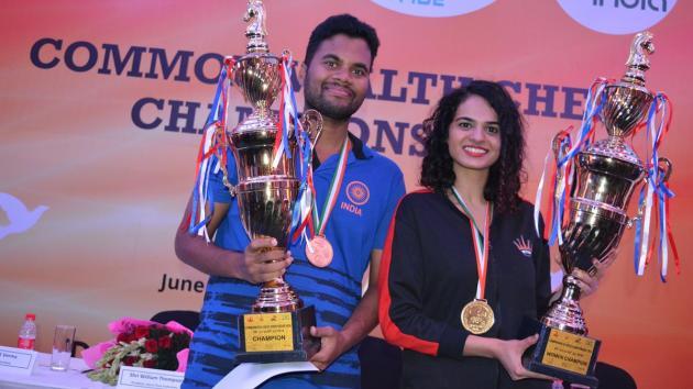 P. Karthikeyan, Tania Sachdev Win Commonwealth Titles