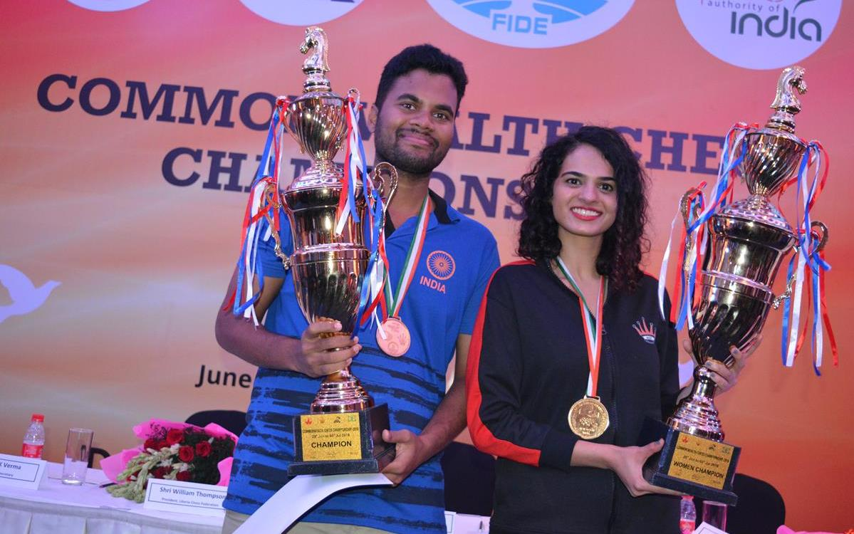 P. Karthikeyan, Tania Sachdev Win Commonwealth Titles