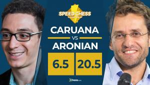 Aronian machaca a Caruana en el Torneo Speed Chess