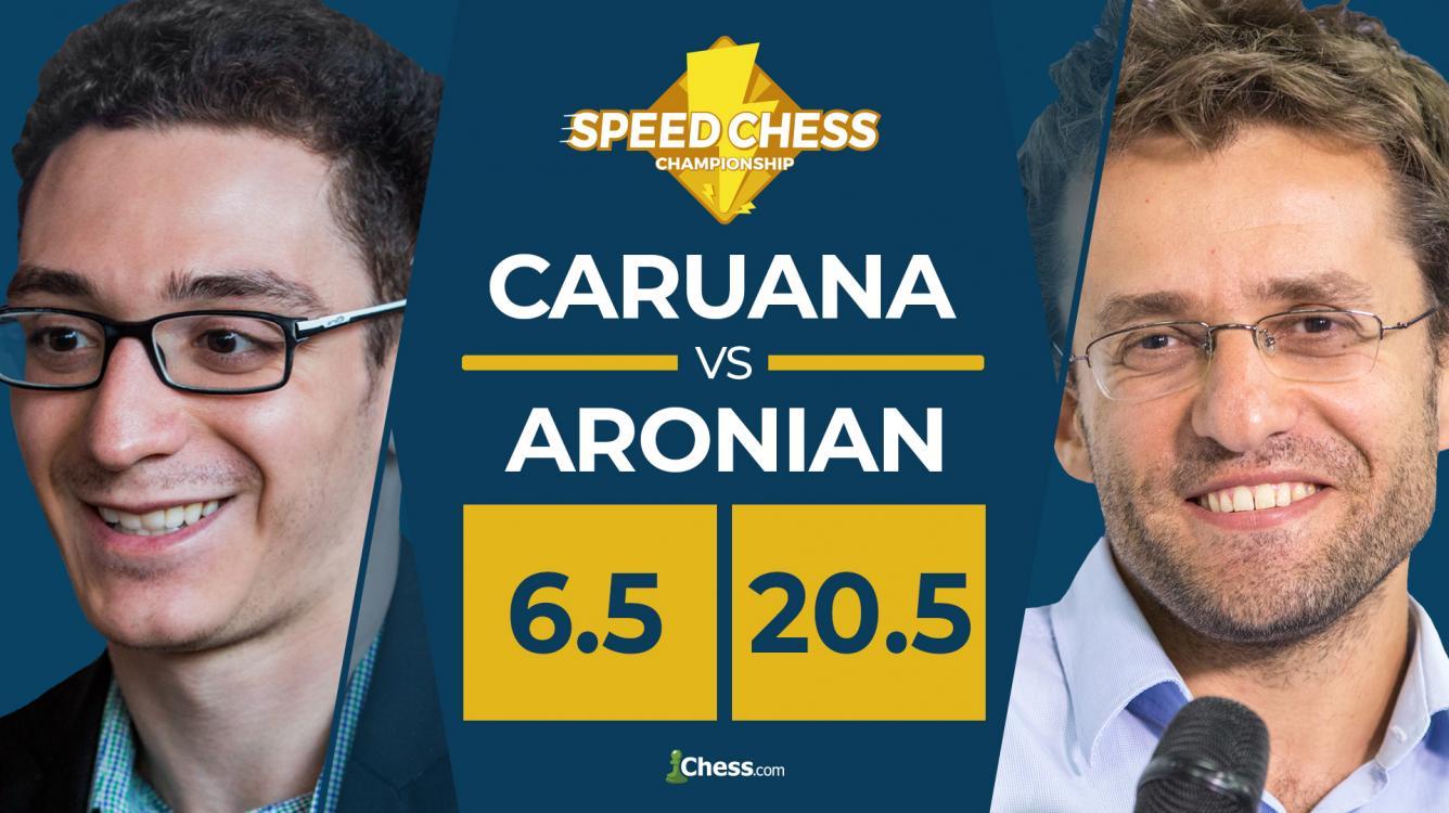 Aronian machaca a Caruana en el Torneo Speed Chess