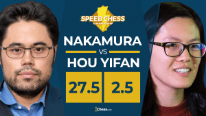 Nakamura bate los récords del Speed Chess contra Hou Yifan