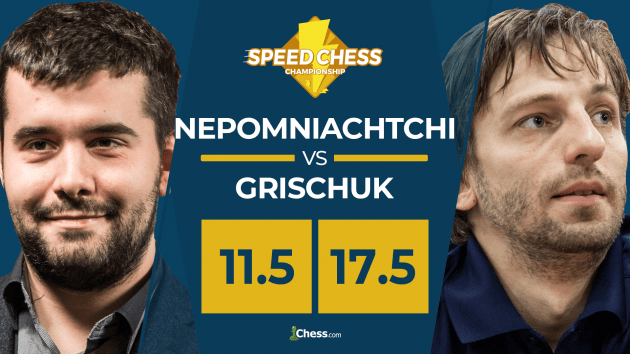Grischuk Defeats Nepomniachtchi In Exciting Speed Chess Battle