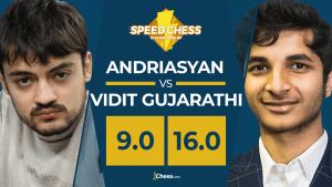 Speed Chess: Vidit, rapidísimo en el bala, vence a Andriasyan
