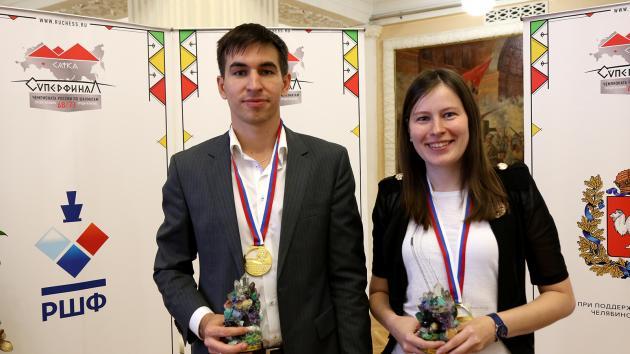Andreikin and Pogonina Win Russian Championship Titles