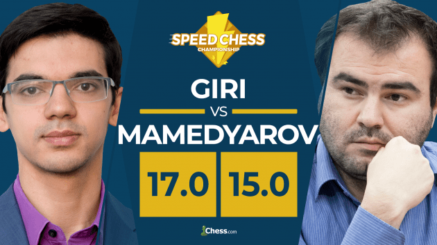 Giri Beats Mamedyarov In Thrilling Speed Chess Match