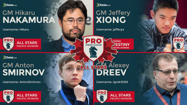 Nakamura The Hero As Pacific Division Wins PRO Chess All Stars