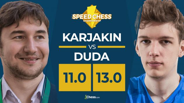 Sensacja podczas Speed Chess: Duda pokonuje Karjakina