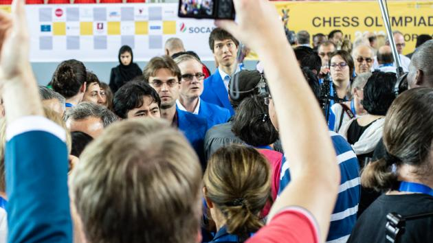 7 Minutes Of Tension In Chess Olympiad's 1st Round