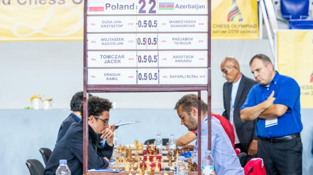 Chess Olympiad: U.S. Joins Poland, Azerbaijan In Lead