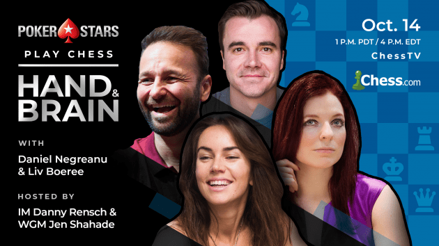 PokerStars Daniel Negreanu, Liv Boeree To Play Hand And Brain Chess Sunday