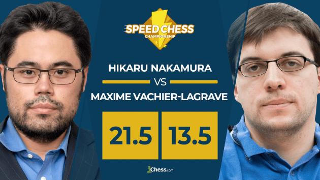 Nakamura sigue siendo más fuerte que MVL en el Speed Chess