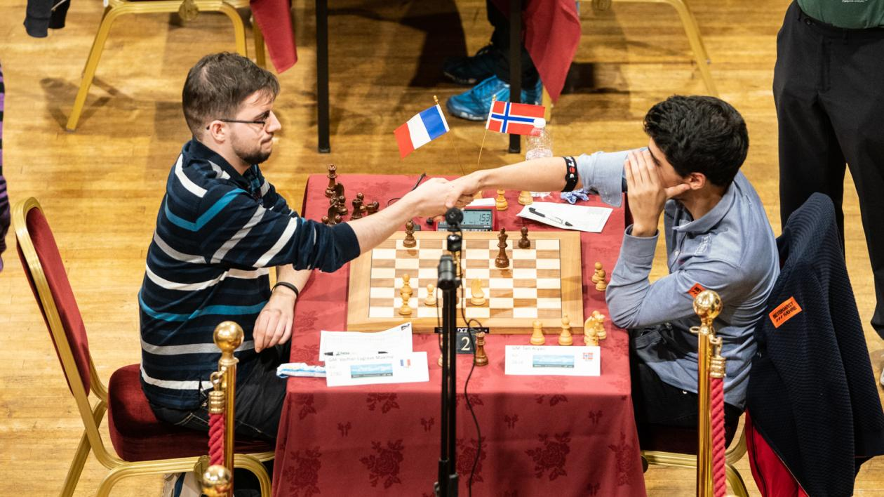 It wasn't a safe day to be a super GM, but Maxime Vachier-Lagrave played a convincing game. | Photo: Maria Emelianova/Chess.com.