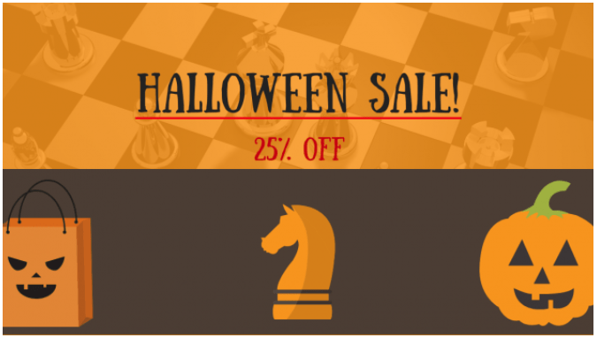 Chess University Halloween Sale - Save 25% On Select Courses Today!