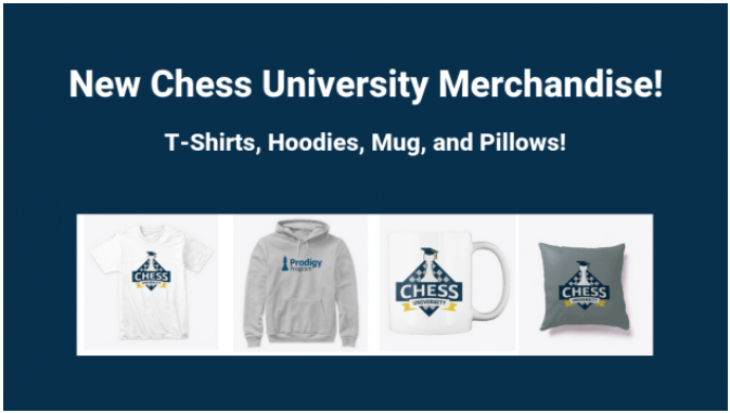 Chess University Shirts, Hoodies, Mugs, and Pillows Now Available!