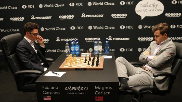 World Chess Championship Game 5: Caruana's Surprise Gambit Doesn't Break Impasse
