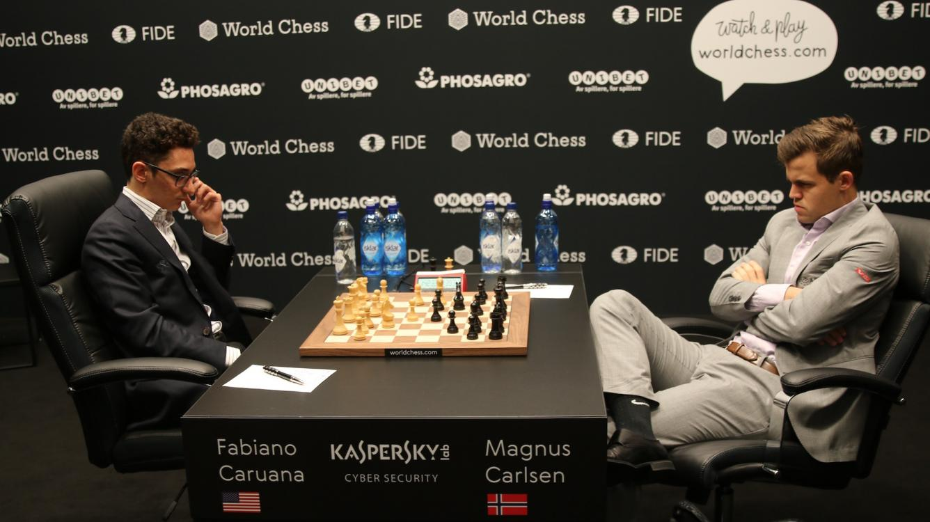 World Chess Championship Game 5: Caruana's Surprise Gambit Doesn't Break Impasse