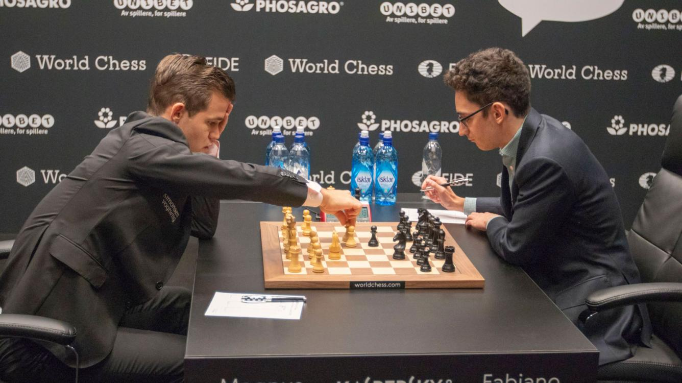 Матч на первенство мира по шахматам, партия 7: снова ферзевый гамбит, и снова ничья