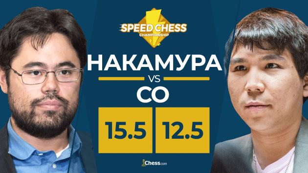 Накамура в пулю дожал Уэсли Со, став чемпионом по Speed Chess