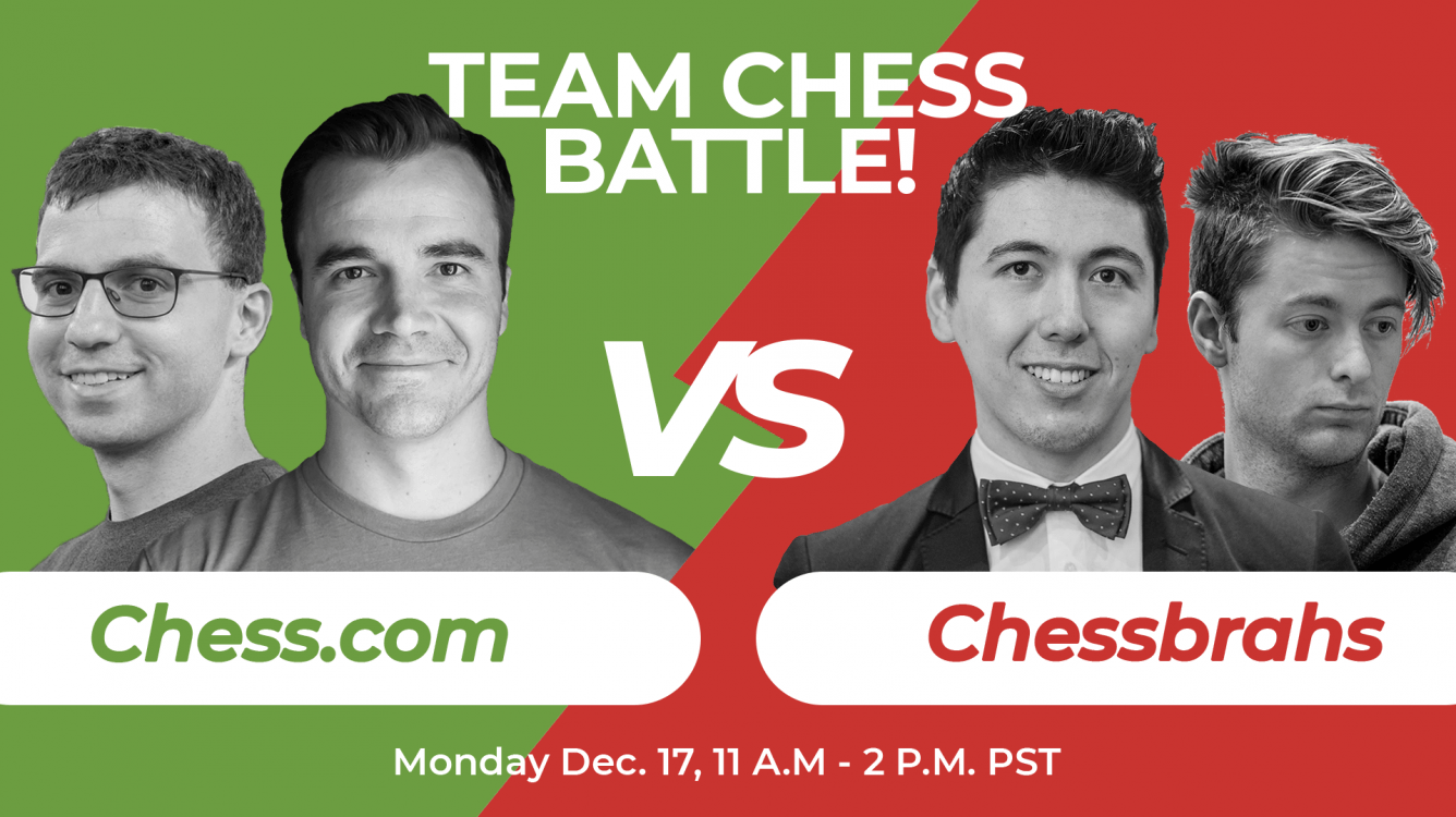 Chessbrahs vs Chess.com In New Team Chess Match Monday