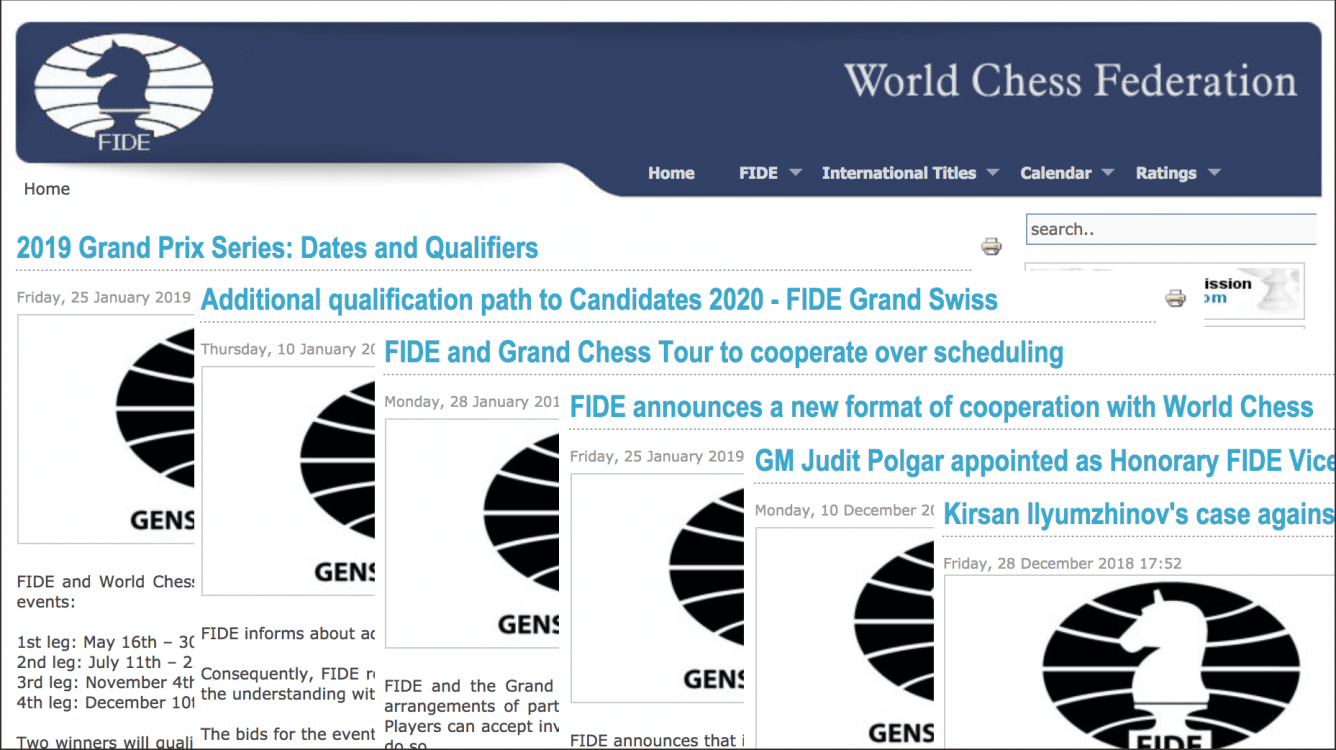 Grand Swiss, Grand Prix, Women's Candidates: Recapping Recent FIDE News