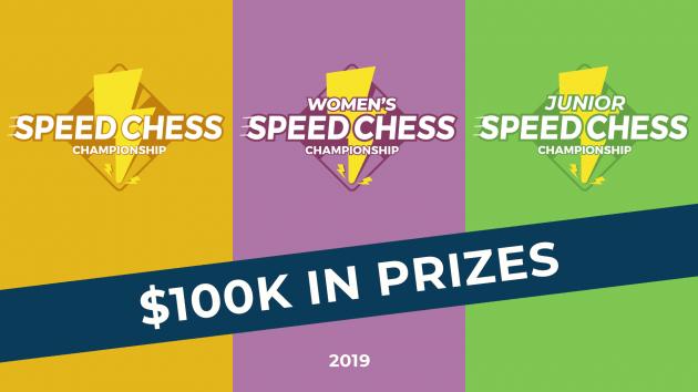 Анонс чемпионатов по скоростным шахматам среди юношей и женщин. Призовой фонд увеличен до $100,000