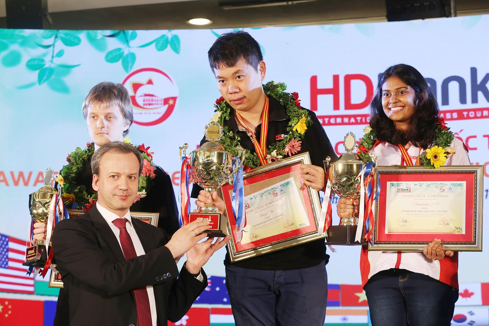 Wang Hao Wins HD Bank International Chess Masters