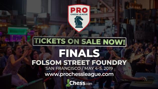 Tickets For PRO Chess League Finals On Sale Now