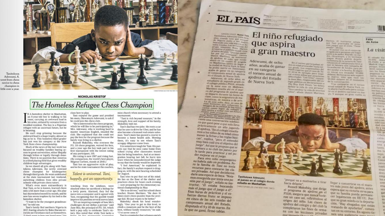 8-Year-Old Refugee Wins New York State Championship