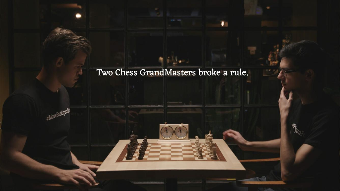 Carlsen, Giri Battle Racism With Game Where Black Moves 1st