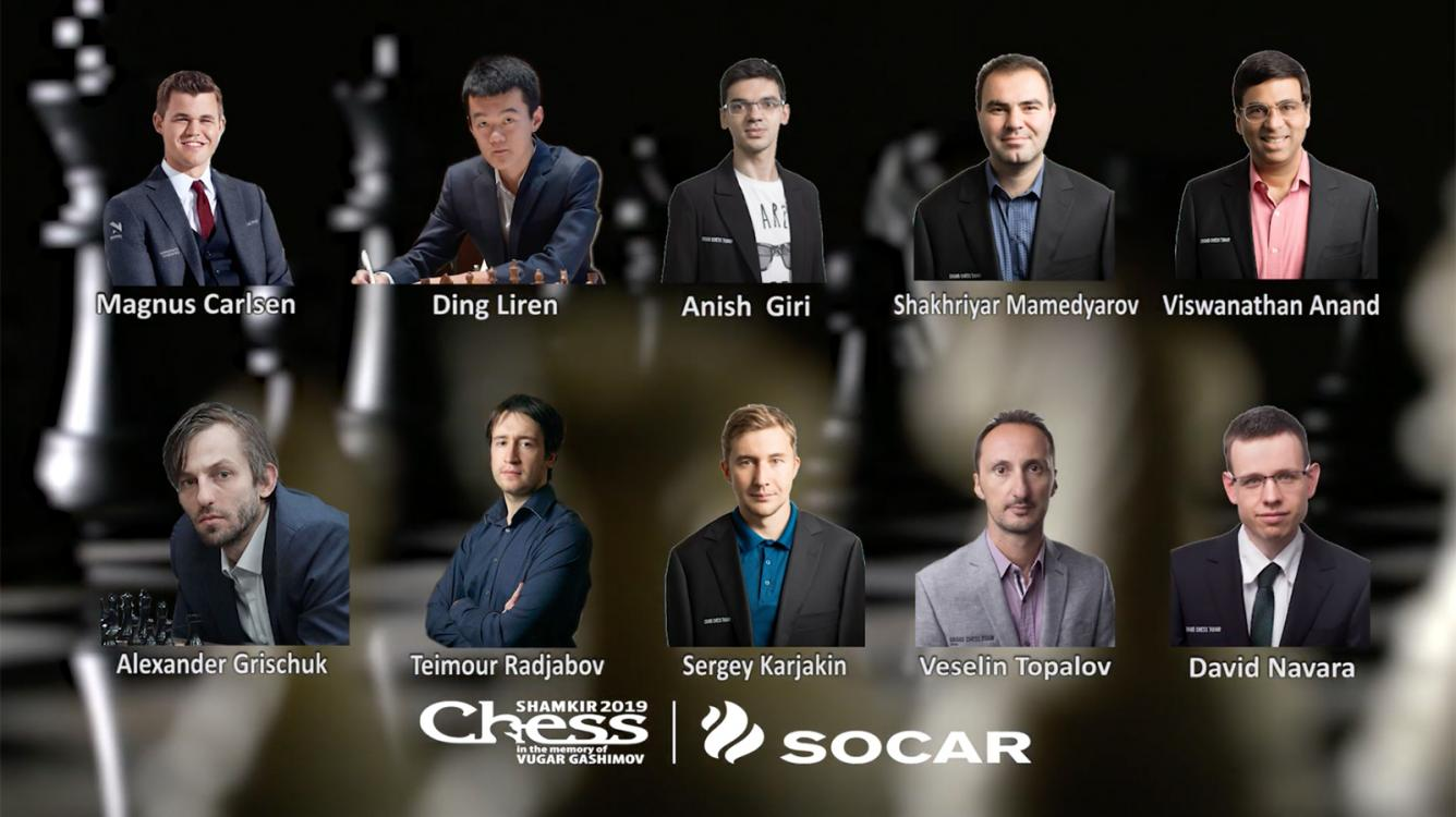 Carlsen, Ding, Giri Top Field At Gashimov Memorial Chess