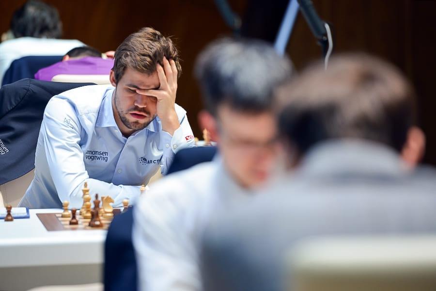 Gashimov Memorial: Carlsen Beats Giri, Back To Sole Leader