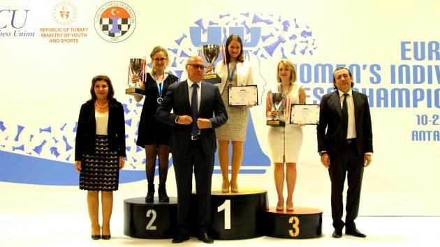 Damen-EM: Kashlinskaya gewinnt - Elisabeth Pähtz wird Dritte