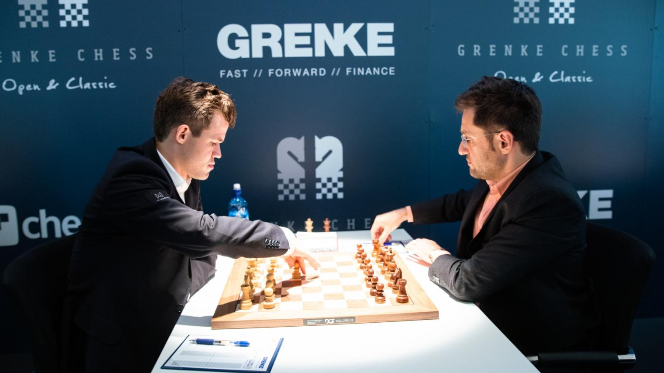 """Scary"" Win: Carlsen-Aronian At Grenke Chess Classic"