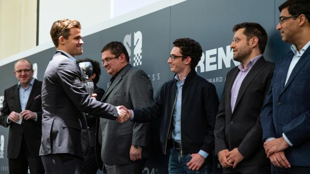 Carlsen Wins Grenke Chess Classic, Reaches 2875 Rating