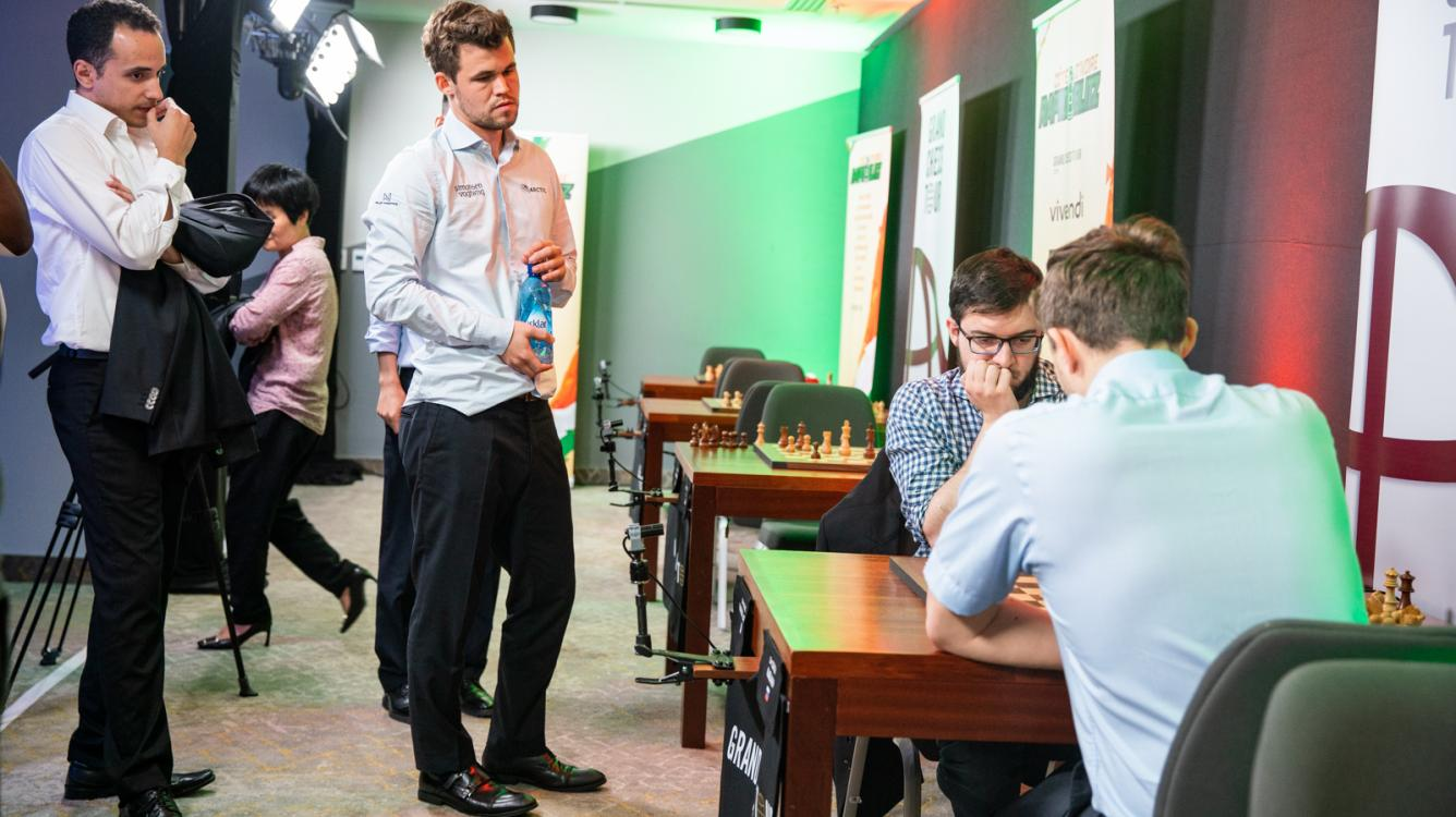Carlsen Slips But Still Ahead In Côte d'Ivoire Rapid & Blitz
