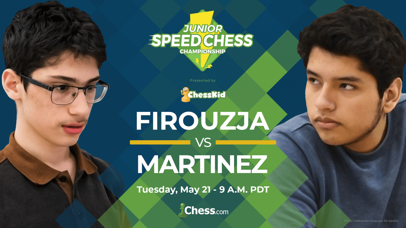 Chess Prodigy Firouzja Faces Martinez In Junior Speed Chess Tuesday