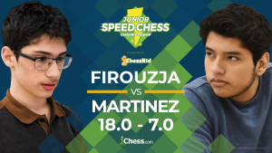 Firouzja Crushes Martinez In Junior Speed Chess Match