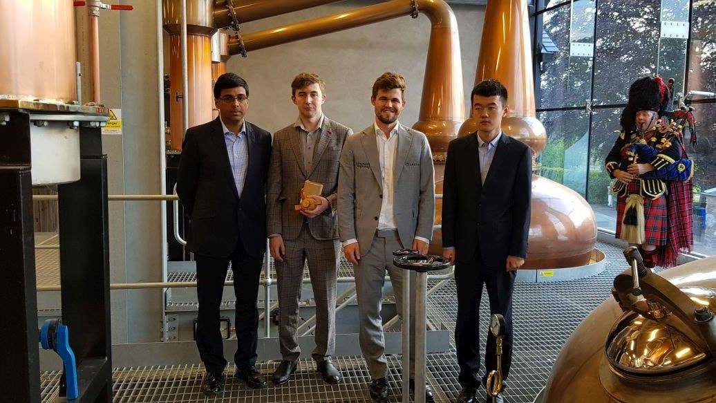 Carlsen Wins Rapid Tournament Held In Scottish Whisky Distillery