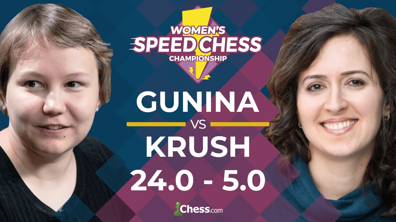 Women's Speed Chess: Gunina Crushes Krush